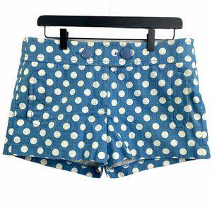 J. Crew City Fit Polka Dot Shorts Blue Sz. 8